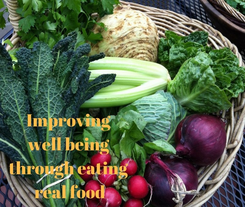 Improving well-being through eating real food