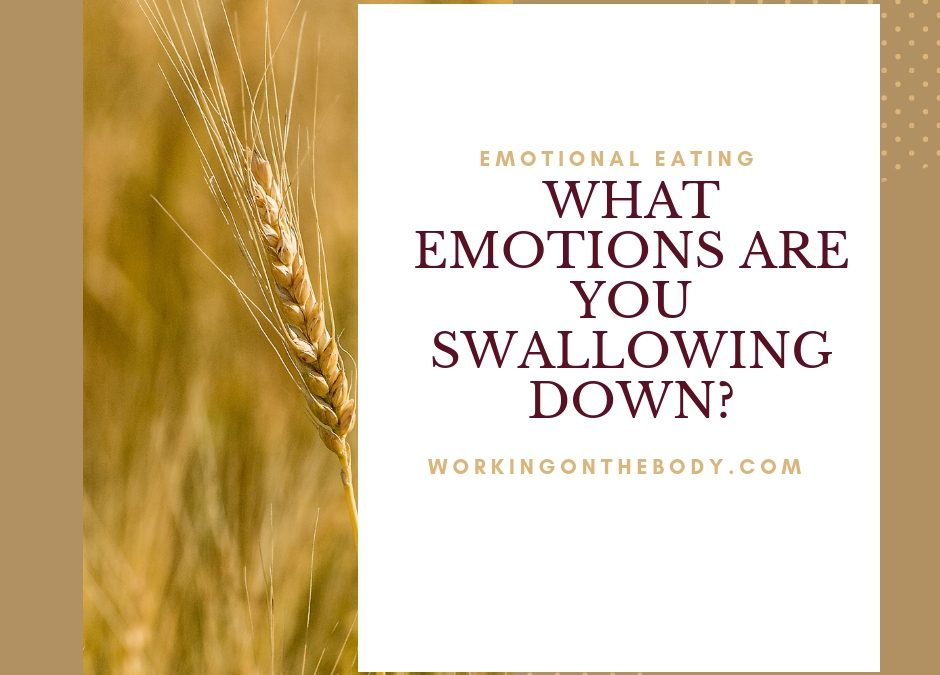 What emotions are you swallowing?
