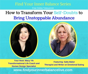 Sally Baker find inner balance